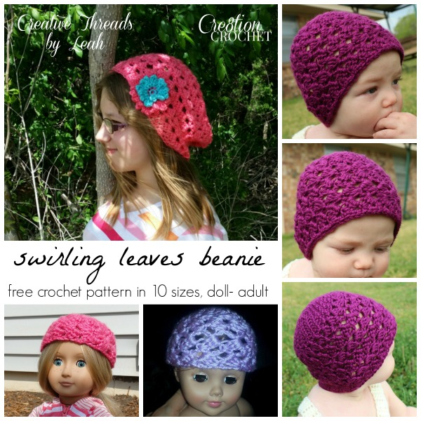 Swirling Leaves Beanie