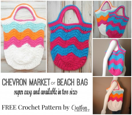Free Crochet Chevron Purse Pattern : Market Bags Archives - Cre8tion Crochet