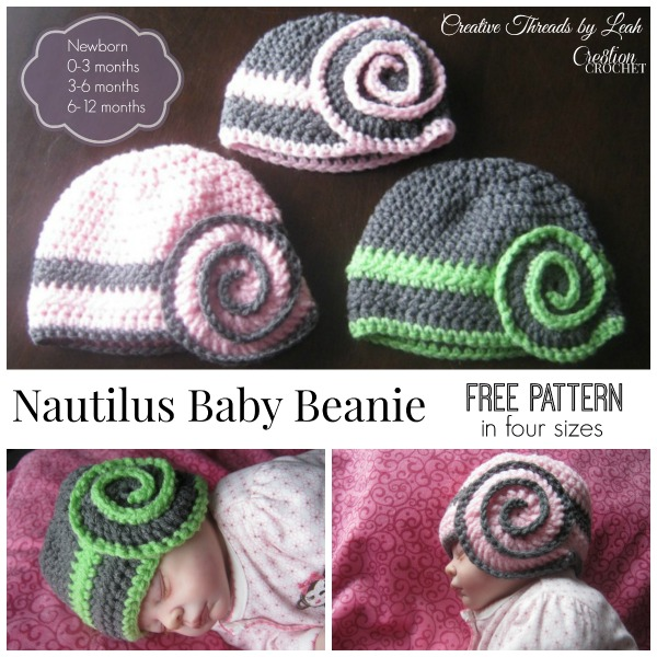 Nautilus Baby Beanie Cre8tion Crochet