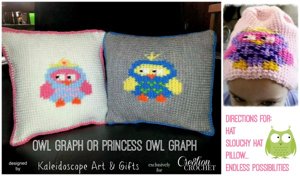 Owl or Princess Owl Graph pattern FREE on #cre8tioncrochet