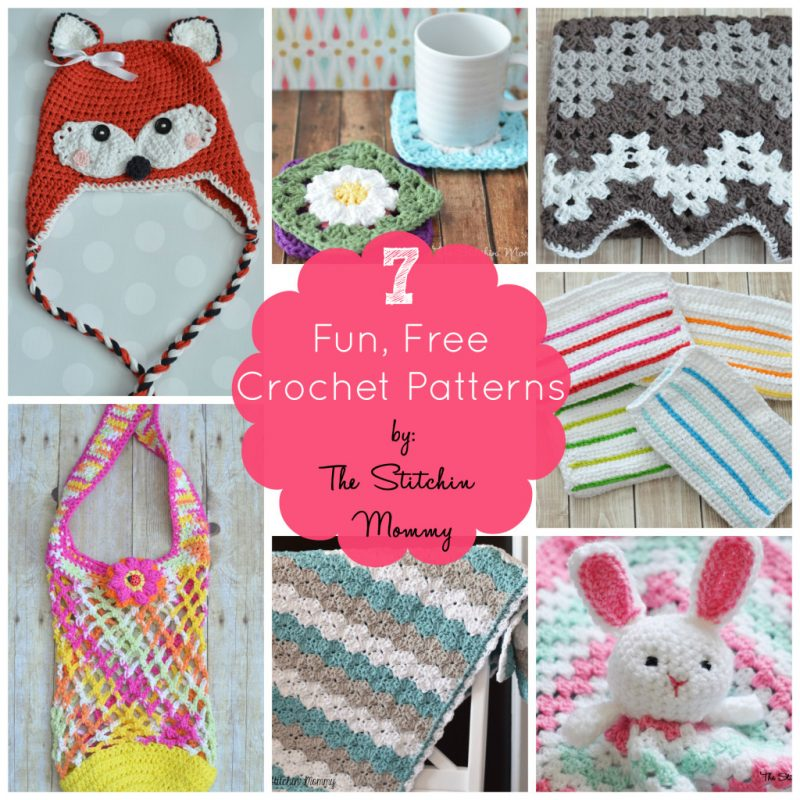 7 Free Patterns from The Stitchin' Mommy