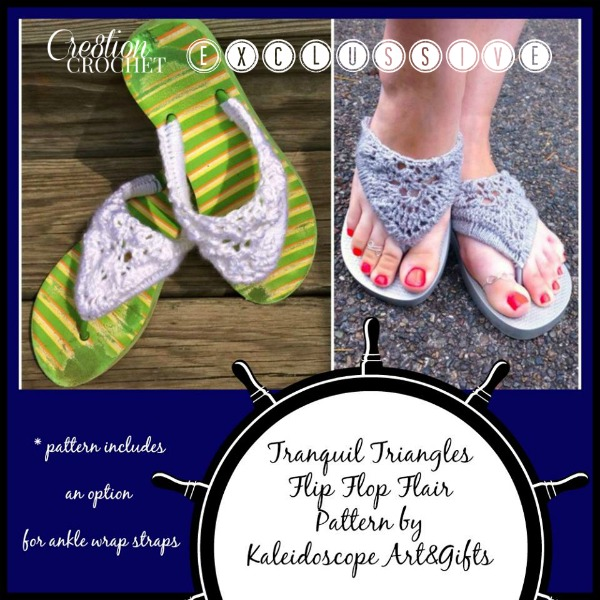 Tranquil Triangle Flip Flop Flair Cre8tion Crochet