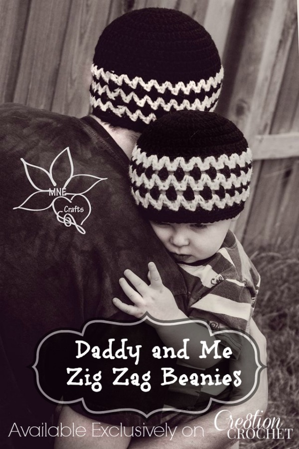 Daddy and Me Zig Zag Beanies