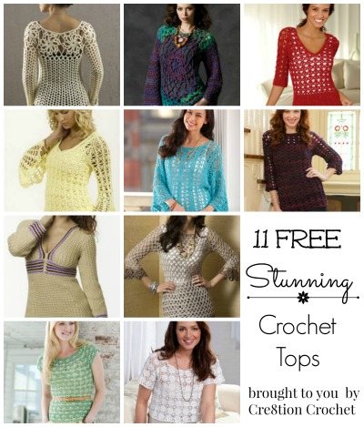 Free Crochet Top Patterns Round Up