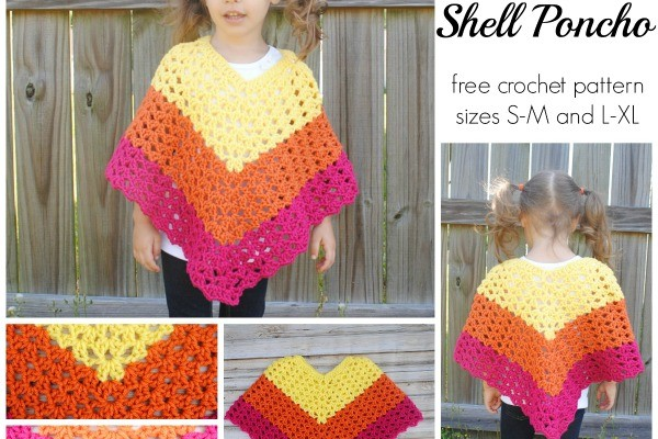 Pattern Childrens Shell Poncho
