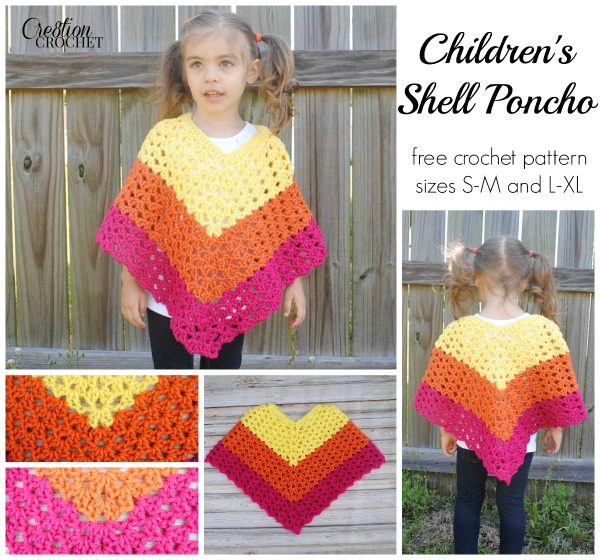 Pattern Childrens Shell Poncho Cre8tion Crochet