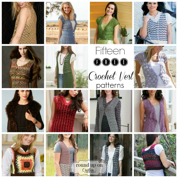 Fifteen Free Crochet Vest Patterns - Cre8tion Crochet