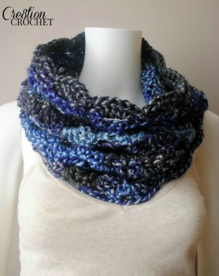 FREE crochet pattern for the Sunset to Moonshadows Cowl #cre8tioncrochet