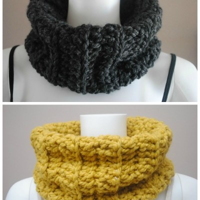 Chunky Ribbed Cowl