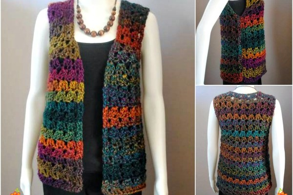 Unique Shell Crochet Vest