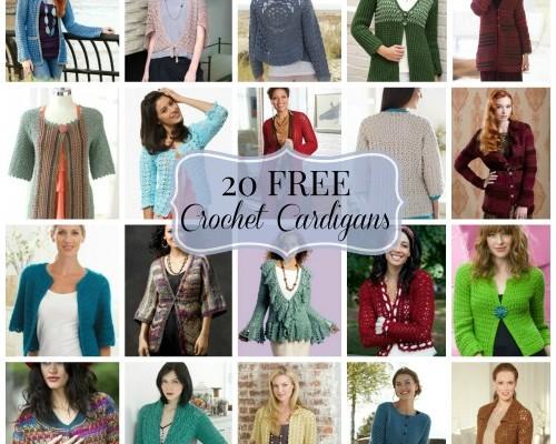20 FREE Crochet Cardigans