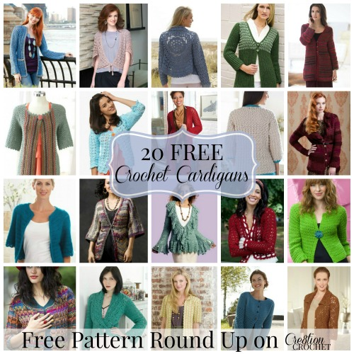 7c9401eb3 20 FREE Crochet Cardigan Patterns on Cre8tion Crochet