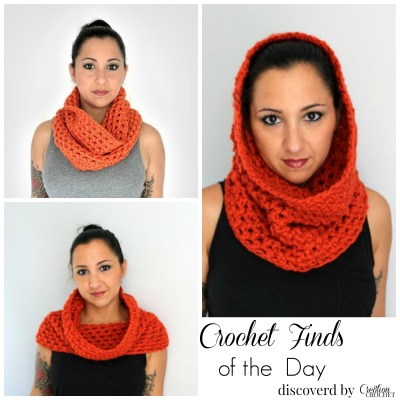 Crochet Finds of the Day November 15, 2014 Crochet Convertible Cowl