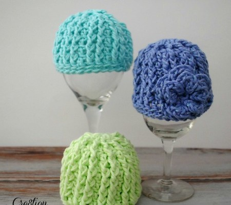 Crochet Preemie Hat with Newborn Sizing