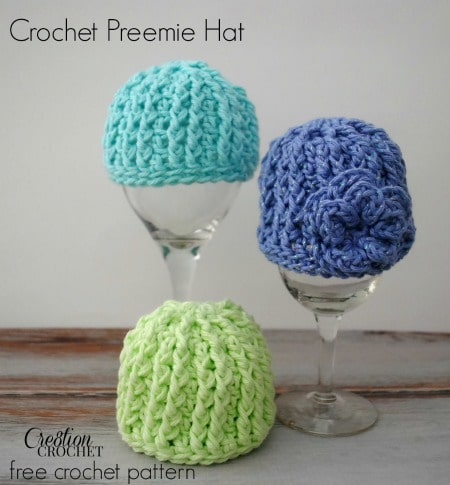 9ec5738ad3b04 Crochet Preemie Hat with Newborn Sizing - Cre8tion Crochet