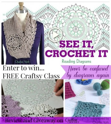Enter to Win FREE Craftsy Class ~ Read It, Crochet It - Reading Diagrams by Charles Voth.  A Review and Giveaway on Cre8tion Crochet