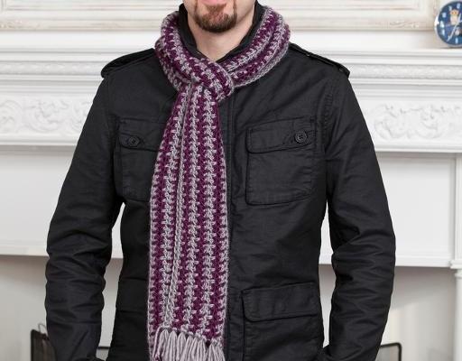 Crochet Finds November 25, 2014 Mens Crochet Scarf Pattern