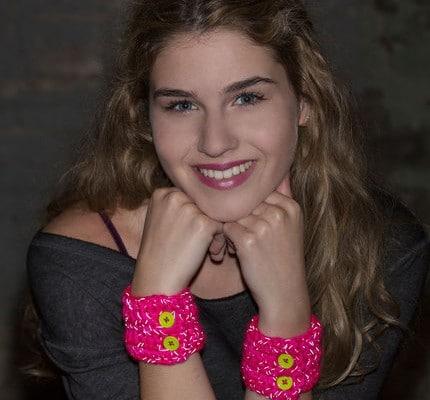 Reflective Teen Wristers- Easy Crochet Wrist Cuff Pattern
