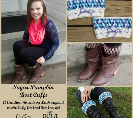 Sugar Pumpkin Boot Cuffs