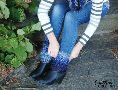 Sunsent into Moonshadows Boot Cuff Pattern by Cre8tion Crochet
