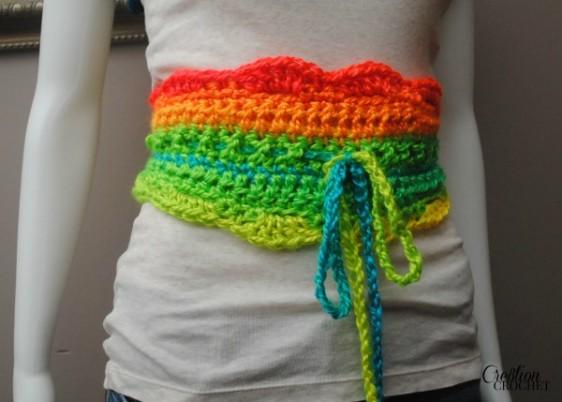 Uniquely Neon Crochet Belt Pattern on #cre8tioncrochet