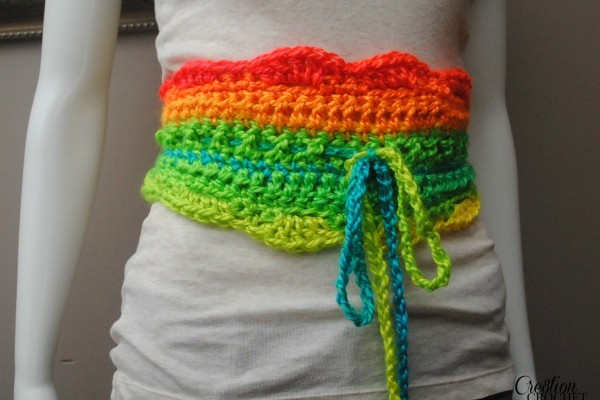 The Uniquely Neon Crochet Belt Pattern