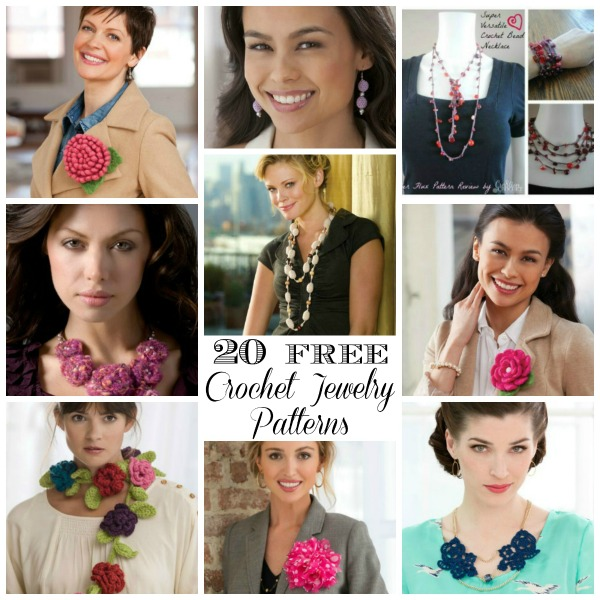 Crochet round up quick and easy crochet accessories part 4 20 free crochet jewelry patterns dt1010fo