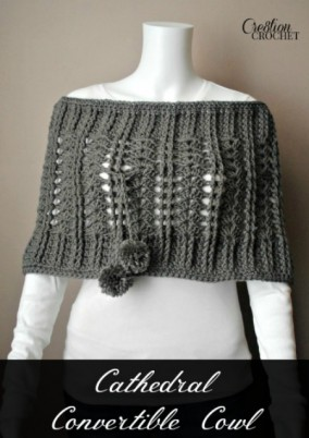 Cathedral Convertible Cowl free crochet pattern