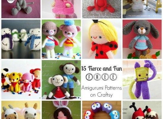 15 Fierce and Fun Crochet Amigurumi Patterns FREE on Craftsy