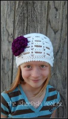 Simply Squared Beanie free crochet beanie pattern