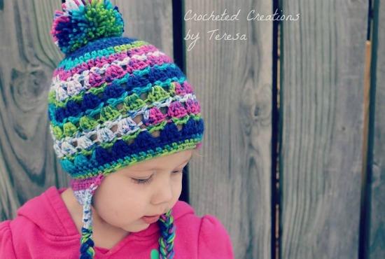 Snow Bird Hat free toddler hat pattern