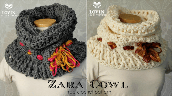 Zara Cowl Free Crochet Pattern on Cre8tion Crochet