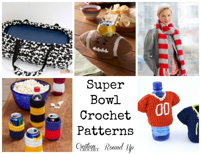 Free Crochet Patterns Games : Super Bowl 2015 Crochet Fever 6 free patterns for the big ...