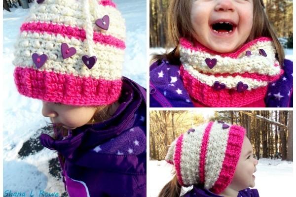Free Crochet Hat Pattern Floating Hearts