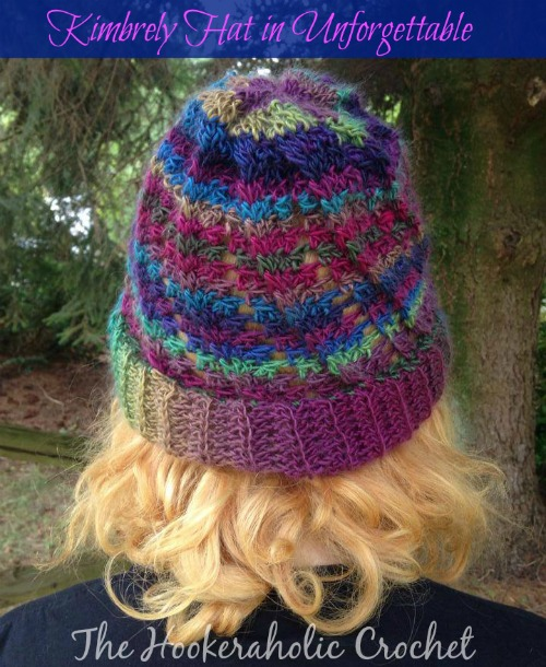 Free Crochet Hat Pattern. The Kimbrely Hat in Unforgettable by The Hookerahalic Crochet exclusively for Cre8tion Crochet