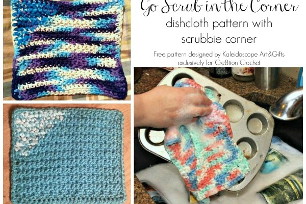 Go Scrub in the Corner Dishcloth Pattern
