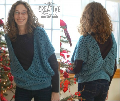 Swirling Leaves Vest free crochet pattern. Designed by Creative Threads by Leah, exclusively for Cre8tion Crochet