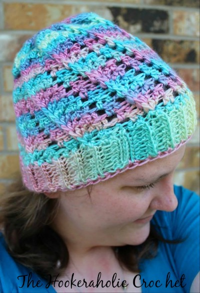 The Kimbrely Hat by The Hookeraholic Crochet. Free pattern designed exclusively for Cre8tion Crochet