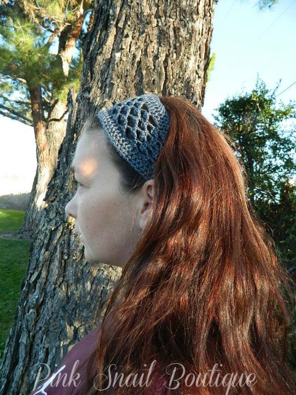 free crochet headband pattern by Pink Snail Boutique