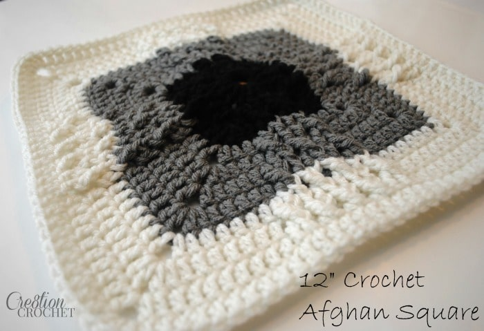 12 inch free crocher afghan square