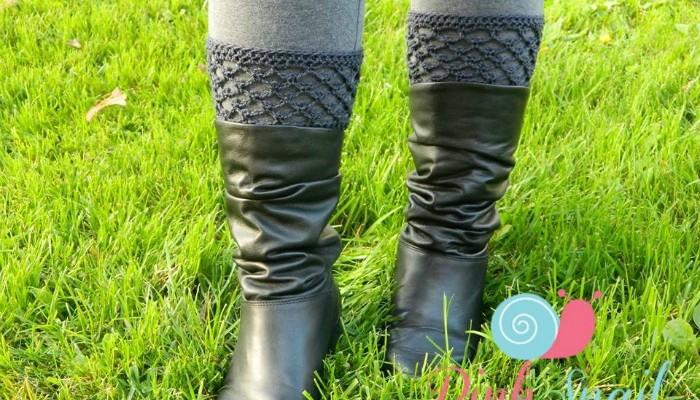 Peekaboo Picot Free Crochet Boot Cuff Pattern