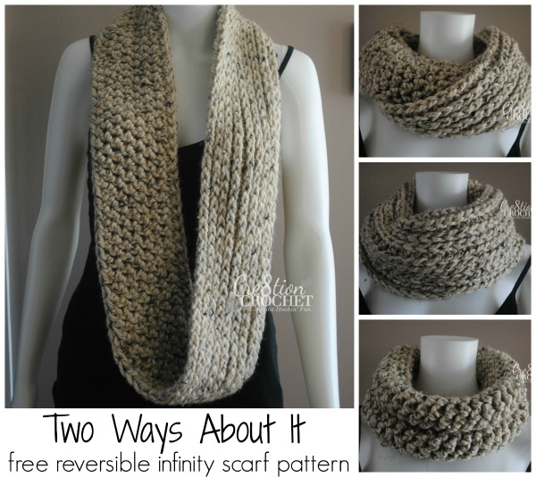 Free Infinity Scarf Pattern Two Ways About It Cre40tion Crochet Beauteous Crochet Infinity Scarf Pattern In The Round