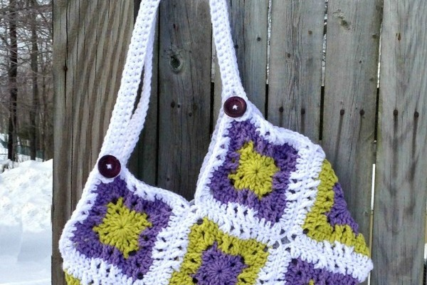 Windmill Square Fat Bottom Free Crochet Bag Pattern