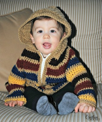 Baby Striped Hoodie by #cre8tioncrochet
