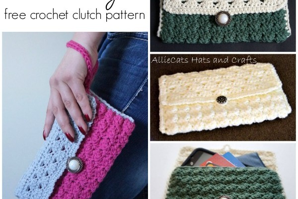 Casually Elegant free crochet clutch pattern