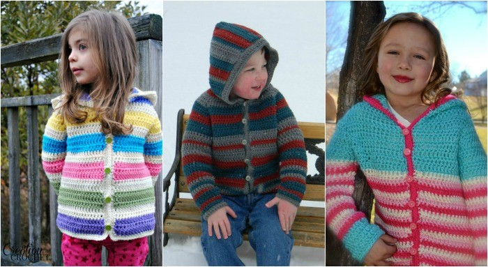 Child Striped Hoodie New Pattern Release