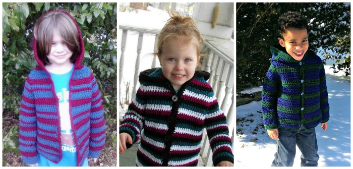 Child Striped Hoodie New Pattern Release by Lorene Eppolite of Cre8tion Crochet