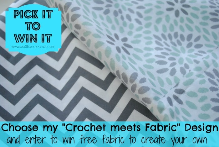 Pick It to Win It- Help Cre8tion Crochet choose their next Crochet meets Fabric design and enter to win free fabric to create your own
