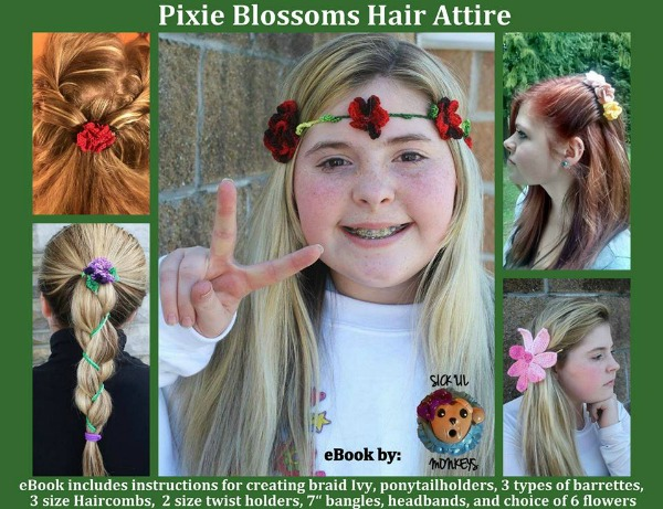 Pixie Hair Attire ebook by Sick Lil' Monkeys available on Ravelry