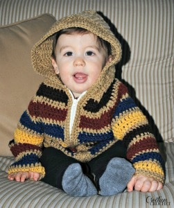 Ravelry Striped Hoodie Baby 2